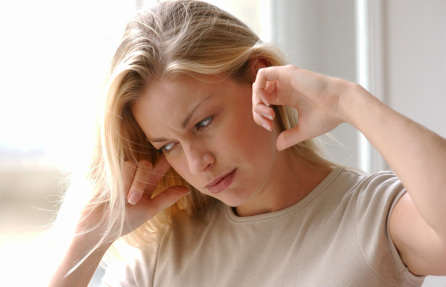 This women has pulsatile tinnitus
